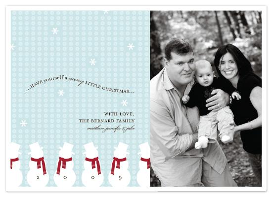 holiday photo cards - Little Snowmen  by McKenzie Estes