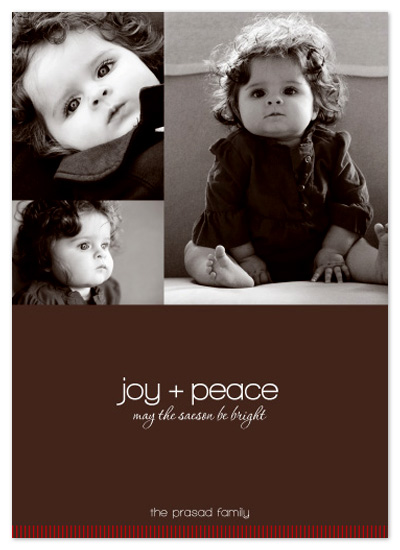 holiday photo cards - joy + peace by SD Design