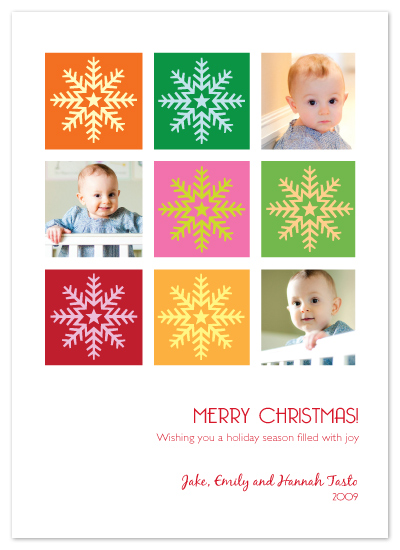 holiday photo cards - Snowflake Squares by Lori Moore