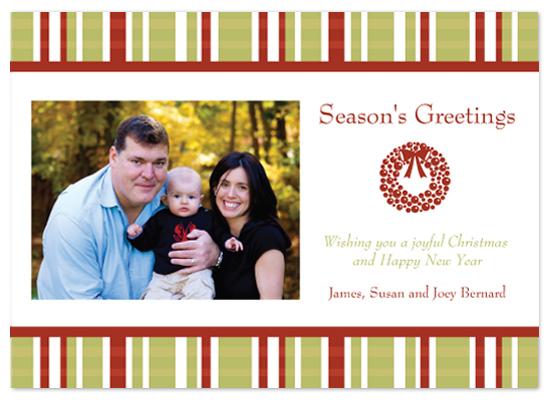 holiday photo cards - Festive Plaid by Lori Moore