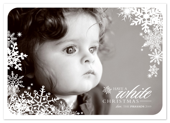holiday photo cards - a white christmas by SD Design