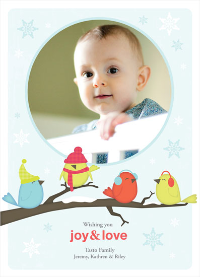 holiday photo cards - joy&love birdies by little riley