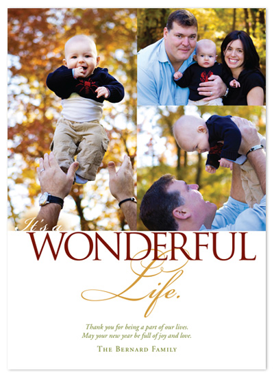 holiday photo cards - It's A Wonderful Life Collage by Jennifer Amy Designs