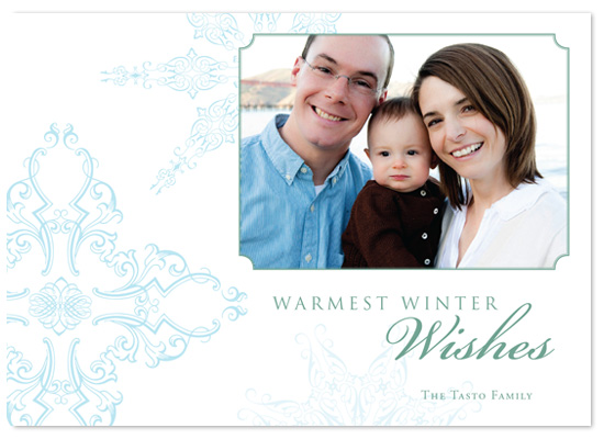 holiday photo cards - Warm Winter Wishes by Jennifer Amy Designs