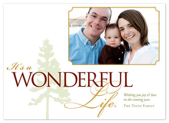 holiday photo cards - Its a Wonderful Life  by Jennifer Amy Designs