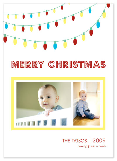 holiday photo cards - Holiday Lights by Union Paperie