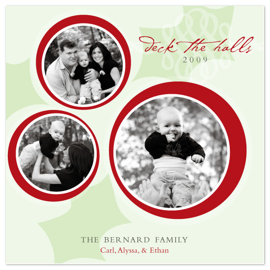 holiday photo cards - Deck the Halls by Union Paperie