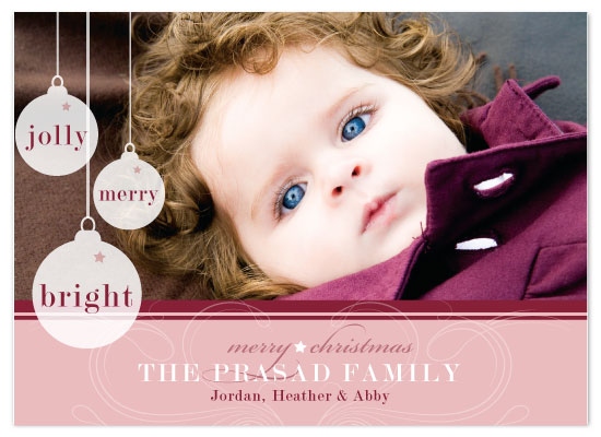 holiday photo cards - Jolly Merry and Bright by Union Paperie