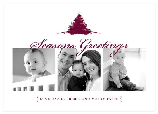 holiday photo cards - Maroon Xmas Tree by Amy