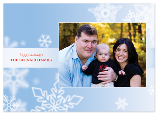 holiday photo cards - snowfall by suite p