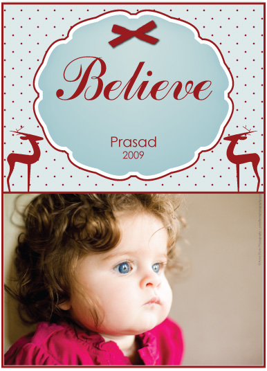 holiday photo cards - Believe by J Sosa