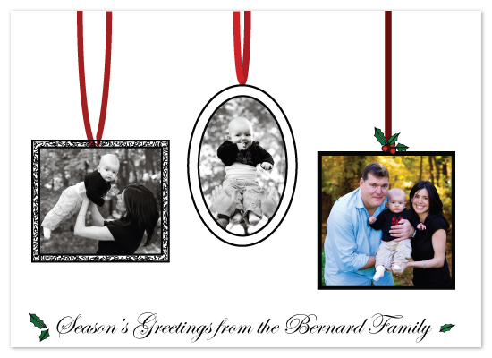 holiday photo cards - Frame Ornaments by F Squared Designs