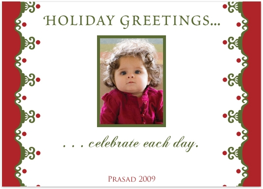 holiday photo cards - Celebrate Each Day by J Sosa