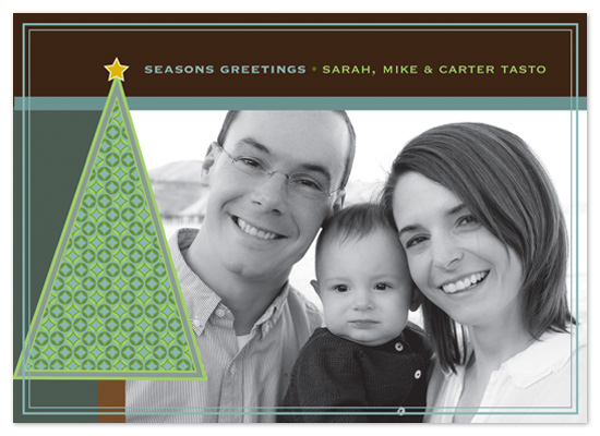 holiday photo cards - Modern Tree by Catherine