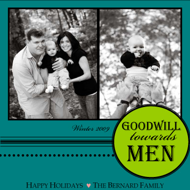 holiday photo cards - Goodwill by Katie Mangieri