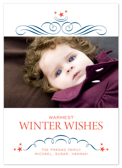 holiday photo cards - Swirls and Stars by Cococello