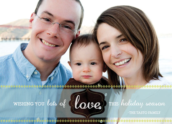 holiday photo cards - lots of love by little riley