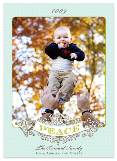 holiday photo cards - peaceful by Paper Dahlia