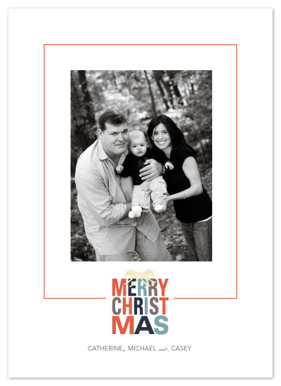 holiday photo cards - Xmas Wrapped Up by Natalie Sullivan Graphic Design