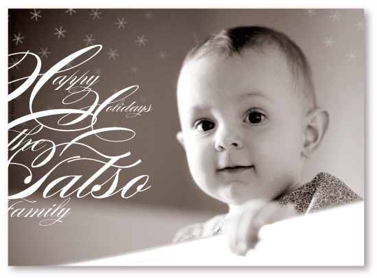 holiday photo cards - Snowflake Music by koshi