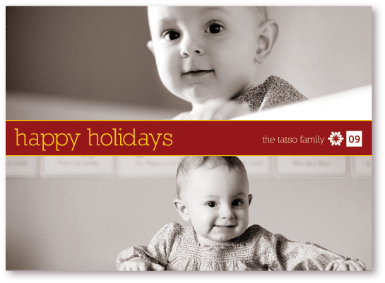 holiday photo cards - Two Up by koshi
