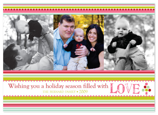 holiday photo cards - Holiday Stripes by Laura Smetak