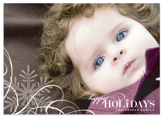 holiday photo cards - Snowflake  Whimsy by Ten26 Design Custom Invitations
