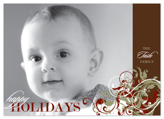 holiday photo cards - Holiday Swirls by Ten26 Design Custom Invitations