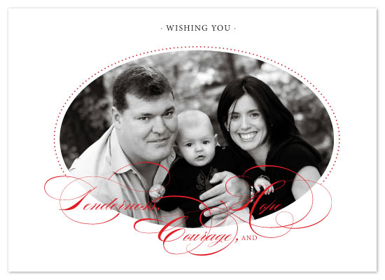 holiday photo cards - Tenderness, Courage, & Hope by Alexi Drago Design