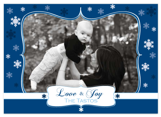 holiday photo cards - love and joy by Jessica Armstrong
