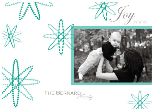 holiday photo cards - Flakes of joy by SimpleTe Design