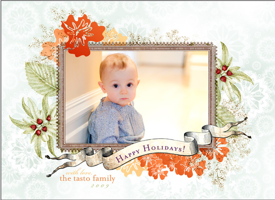holiday photo cards - Citrus Snowflakes by GLEAUX Art Photo Design