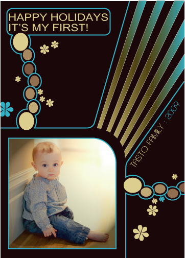 holiday photo cards - a lined out christmas  by john bergquist
