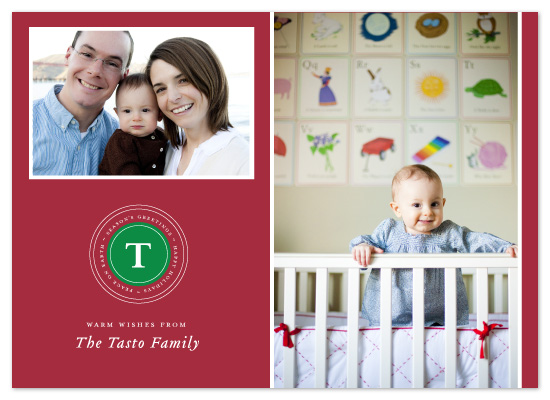 holiday photo cards - classic monogram  by n+s