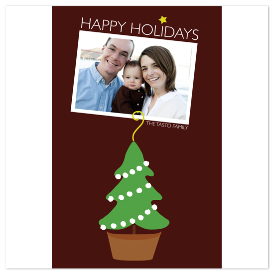 holiday photo cards - Tree Pot by Alister Lee