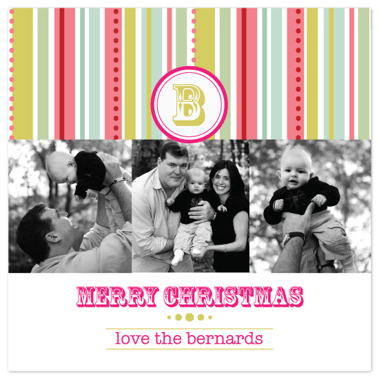 holiday photo cards - Christmas Monogram by Laura Smetak