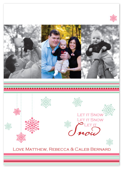 holiday photo cards - Snowflakes by Laura Smetak