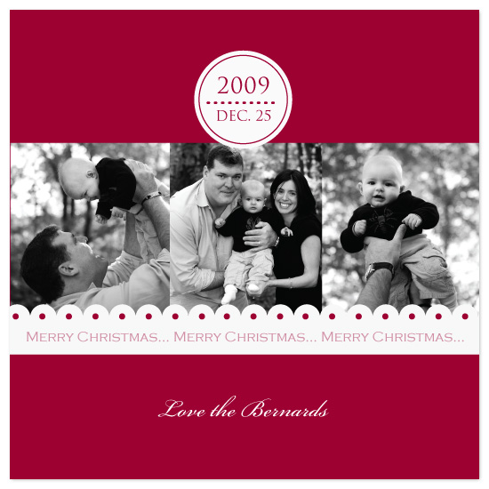 holiday photo cards - Date Stamp & Lace by Laura Smetak