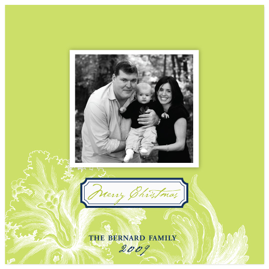 holiday photo cards - Lime Floral by Laura Smetak