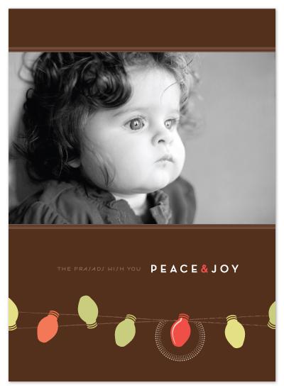 holiday photo cards - simple bulbs by kelli hall