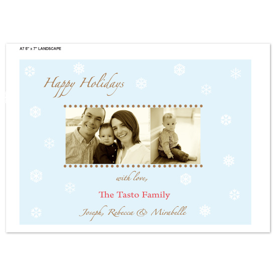 holiday photo cards - Red Chritmas by bean and pie designs