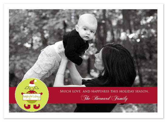 holiday photo cards - Happy Elf by Seedlings
