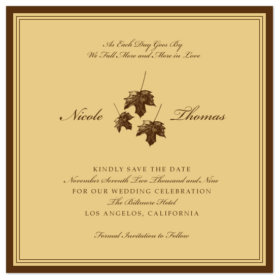 save the date cards - Fall In Love by Kristy Fischer