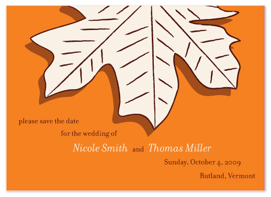save the date cards - Maple Leaves by Avery