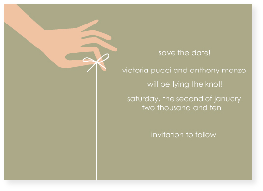 save the date cards - tying the knot by Marabou Design