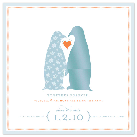 save the date cards - penguins by pottsdesign