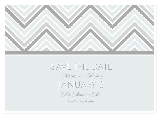 save the date cards - Chevron Pattern by McKenzie Estes