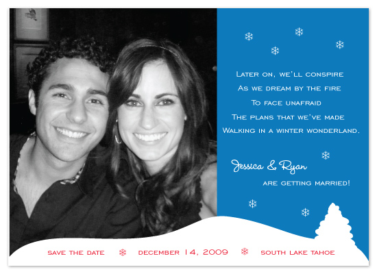save the date cards - Winter Wonderland by Avery