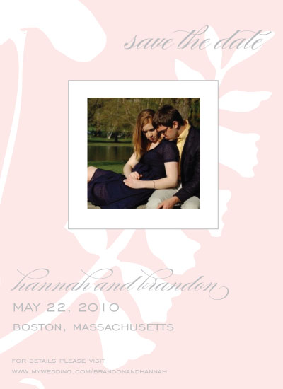 save the date cards - Pretty in Pink by Sarah Brown