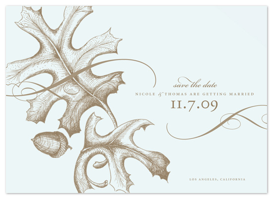 save the date cards - falling leaves by pottsdesign
